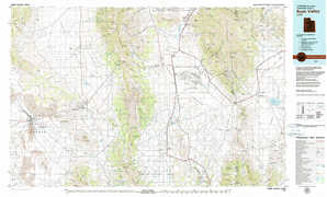 Rush Valley topographical map