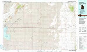 Bonneville Salt Flats topographical map