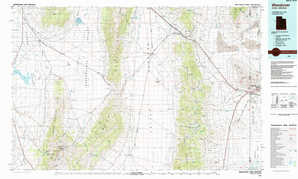 Wendover topographical map