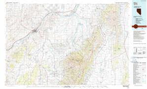 Elko topographical map
