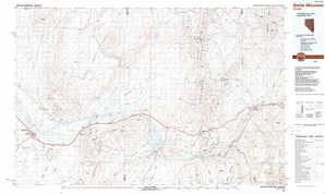 Battle Mountain topographical map