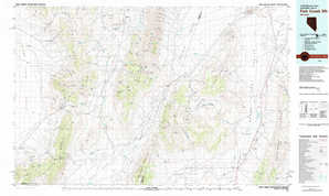 Fish Creek Mountains topographical map