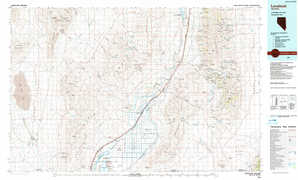 Lovelock topographical map