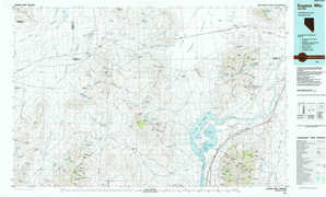 Eugene Mountains topographical map