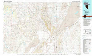 Gerlach topographical map