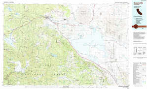 Susanville topographical map