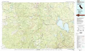Lake Almanor topographical map