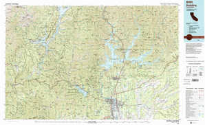Redding topographical map