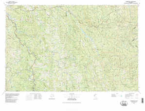 Garberville topographical map