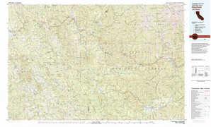 Hayfork topographical map