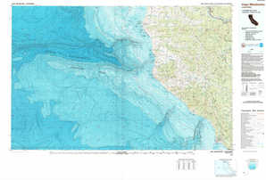 Cape Mendocino 1:250,000 scale USGS topographic map 40124a1