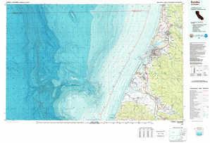 Eureka 1:250,000 scale USGS topographic map 40124e1