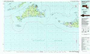 Martha'S Vineyard topographical map