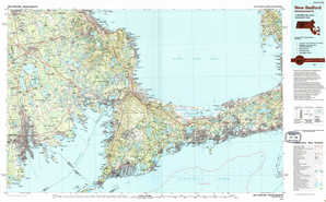 New Bedford topographical map