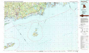 Block Island topographical map