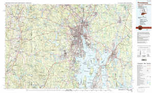 Providence topographical map