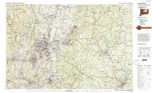 Hartford topographical map