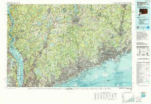 Bridgeport topographical map