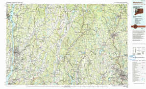Waterbury topographical map