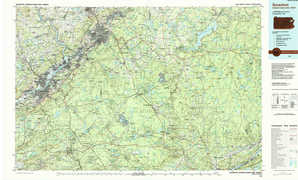Scranton topographical map