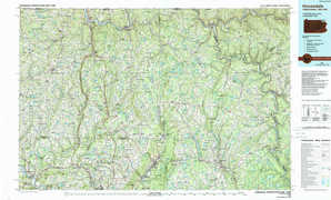 Honesdale topographical map