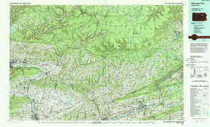 Williamsport East topographical map