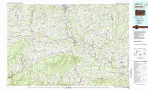 Towanda topographical map