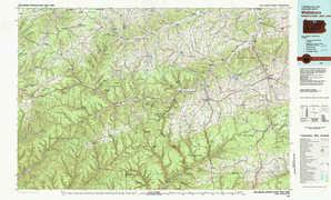 Wellsboro topographical map