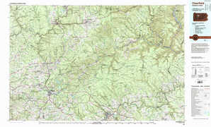 Clearfield 1:250,000 scale USGS topographic map 41078a1