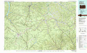Bradford 1:250,000 scale USGS topographic map 41078e1
