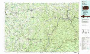 Warren 1:250,000 scale USGS topographic map 41079e1