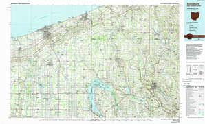 Ashtabula topographical map