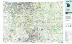 Cleveland South topographical map