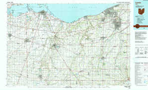 Lorain topographical map