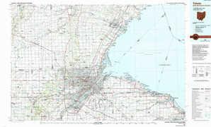 Toledo topographical map