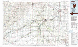 Defiance topographical map