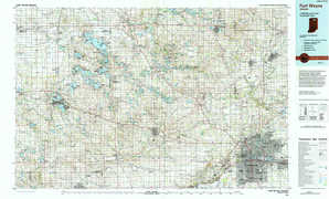 Fort Wayne topographical map