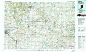 Elkhart topographical map