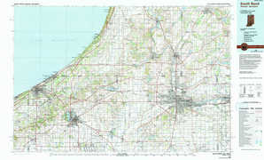 South Bend 1:250,000 scale USGS topographic map 41086e1