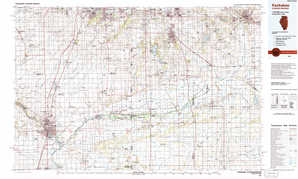 Kankakee 1:250,000 scale USGS topographic map 41087a1