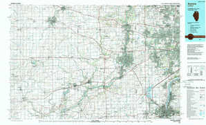 Aurora topographical map