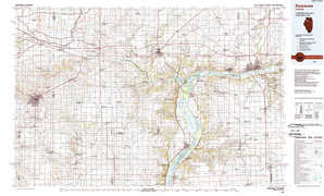 Kewanee topographical map