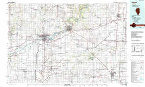 Dixon topographical map