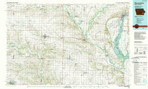 Muscatine 1:250,000 scale USGS topographic map 41091a1