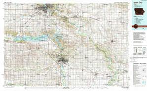 Iowa City topographical map