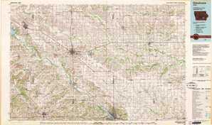 Oskaloosa topographical map