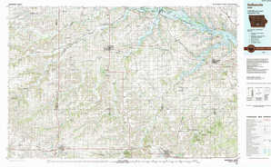 Indianola topographical map