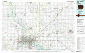 Des Moines topographical map