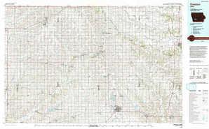Creston topographical map