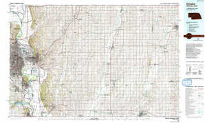 Omaha topographical map